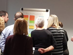 Participants putting together priority recommendations